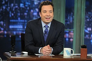 Jimmy Fallon at desk