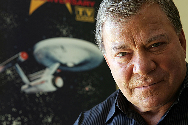 shatner with trek poster