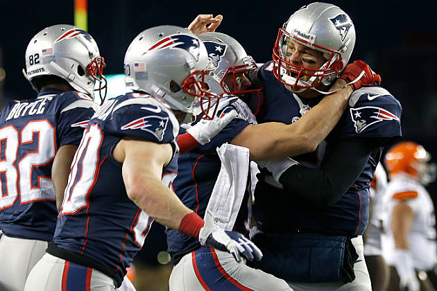 Pats Celebrate Winning TD