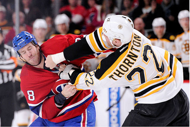 Bruin's Thornton Beating Some Dude Up