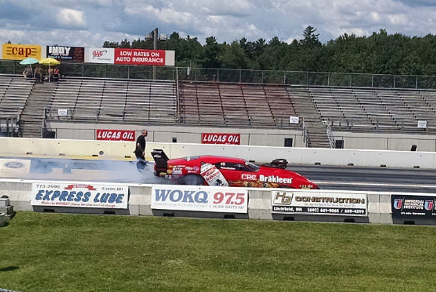 NE Dragway car and WOKQ sign
